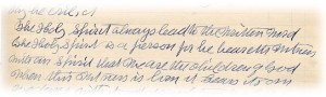 Exhibit 12.  Excerpt from handwritten draft of Manuscript 20, 1906.