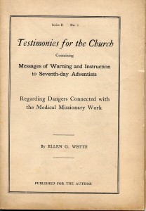 Exhibit 3. Special Testimonies, Series B., No.7 (1906), title page.