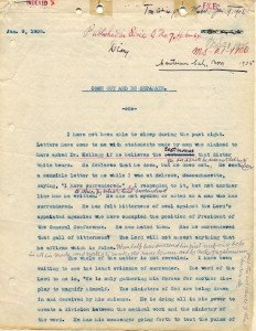 Exhibit 6. Manuscript 21, 1906, p.1, showing Ellen White's handwritten interlineations.