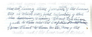 Exhibit 7. Excerpt from handwritten draft of Manuscript 21, 1906.